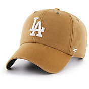 '47 Men's Los Angeles Dodgers Carhartt Clean Up Brown Adjustable Hat