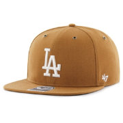 '47 Men's Los Angeles Dodgers Carhartt Captain Brown Adjustable Snapback Hat