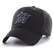 '47 Men's Miami Marlins Carhartt Clean Up Black Adjustable Hat
