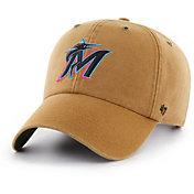 '47 Men's Miami Marlins Carhartt Clean Up Brown Adjustable Hat
