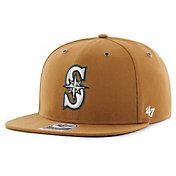 '47 Men's Seattle Mariners Carhartt Captain Brown Adjustable Snapback Hat
