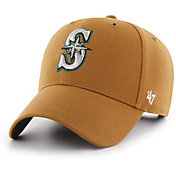 '47 Men's Seattle Mariners Carhartt MVP Brown Adjustable Hat