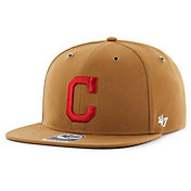 '47 Men's Cleveland Indians Carhartt Captain Brown Adjustable Snapback Hat