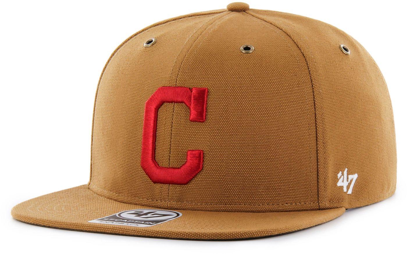 '47 Men's Cleveland Indians Carhartt Captain Brown Adjustable Snapback Hat