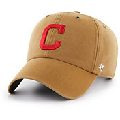 '47 Men's Cleveland Indians Carhartt Clean Up Brown Adjustable Hat