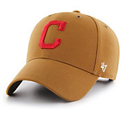 '47 Men's Cleveland Indians Carhartt MVP Brown Adjustable Hat