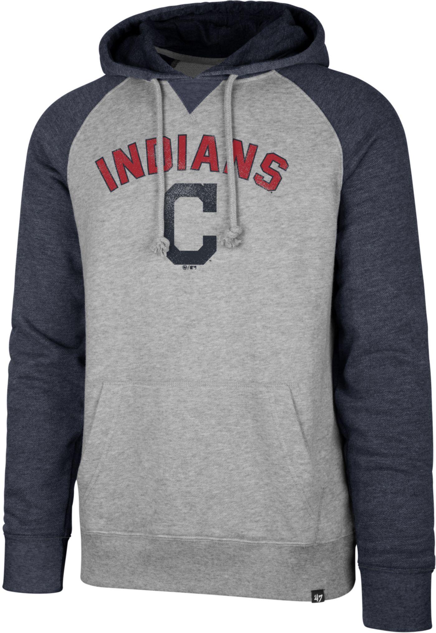 '47 Men's Cleveland Indians Raglan Pullover Hoodie