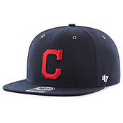 '47 Men's Cleveland Indians Carhartt Captain Navy Adjustable Snapback Hat