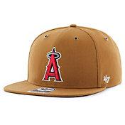 '47 Men's Los Angeles Angels Carhartt Captain Brown Adjustable Snapback Hat