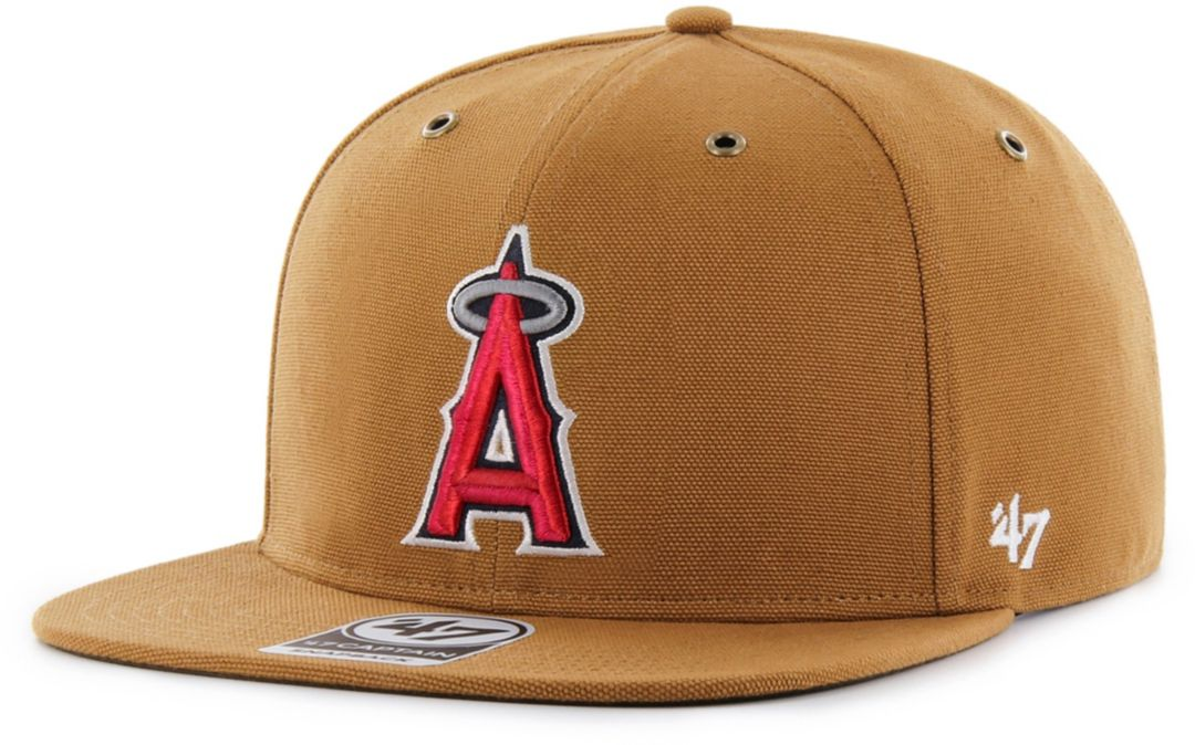 the best attitude 210a5 5f888  47 Men s Los Angeles Angels Carhartt Captain Brown Adjustable Snapback Hat  1.