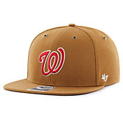 '47 Men's Washington Nationals Carhartt Captain Brown Adjustable Snapback Hat