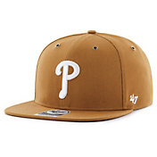 '47 Men's Philadelphia Phillies Carhartt Captain Brown Adjustable Snapback Hat
