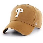 '47 Men's Philadelphia Phillies Carhartt Clean Up Brown Adjustable Hat