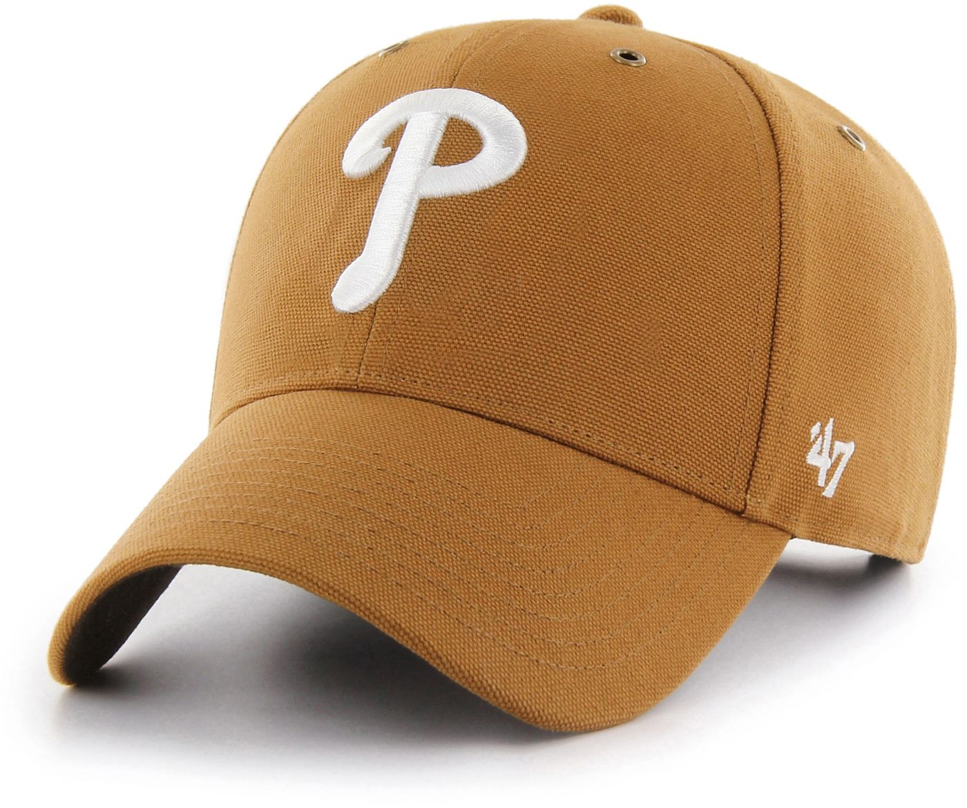 '47 Men's Philadelphia Phillies Carhartt MVP Brown Adjustable Hat