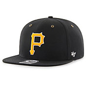 '47 Men's Pittsburgh Pirates Carhartt Captain Black Adjustable Snapback Hat