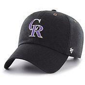 '47 Men's Colorado Rockies Carhartt Clean Up Black Adjustable Hat