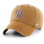 '47 Men's Colorado Rockies Carhartt Clean Up Brown Adjustable Hat