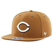 '47 Men's Cincinnati Reds Carhartt Captain Brown Adjustable Snapback Hat