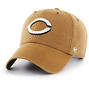 '47 Men's Cincinnati Reds Carhartt Clean Up Brown Adjustable Hat