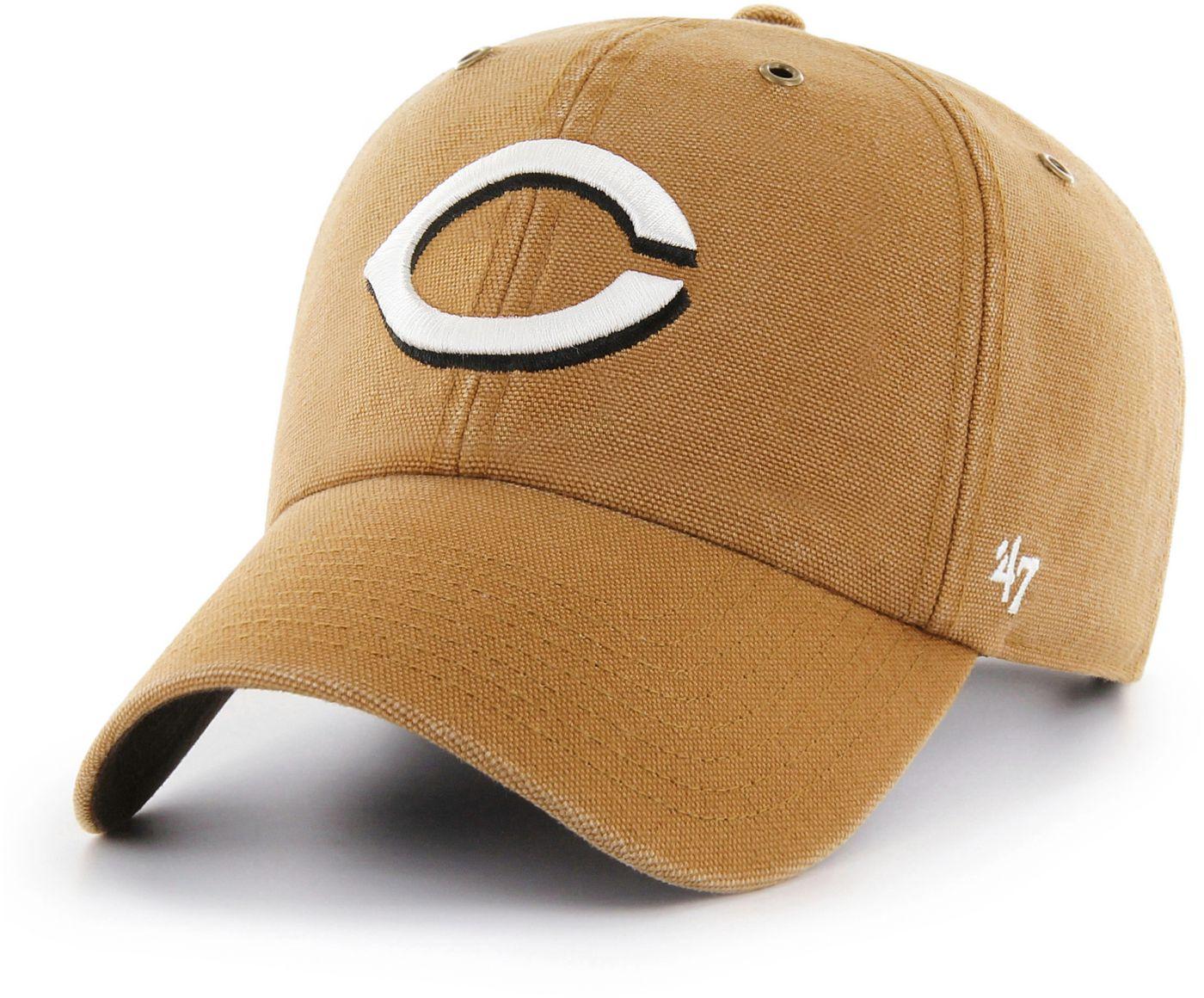 '47 Men's Cincinnati Reds Carhartt Clean Up Brown Adjustable Hat