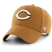 '47 Men's Cincinnati Reds Carhartt MVP Brown Adjustable Hat