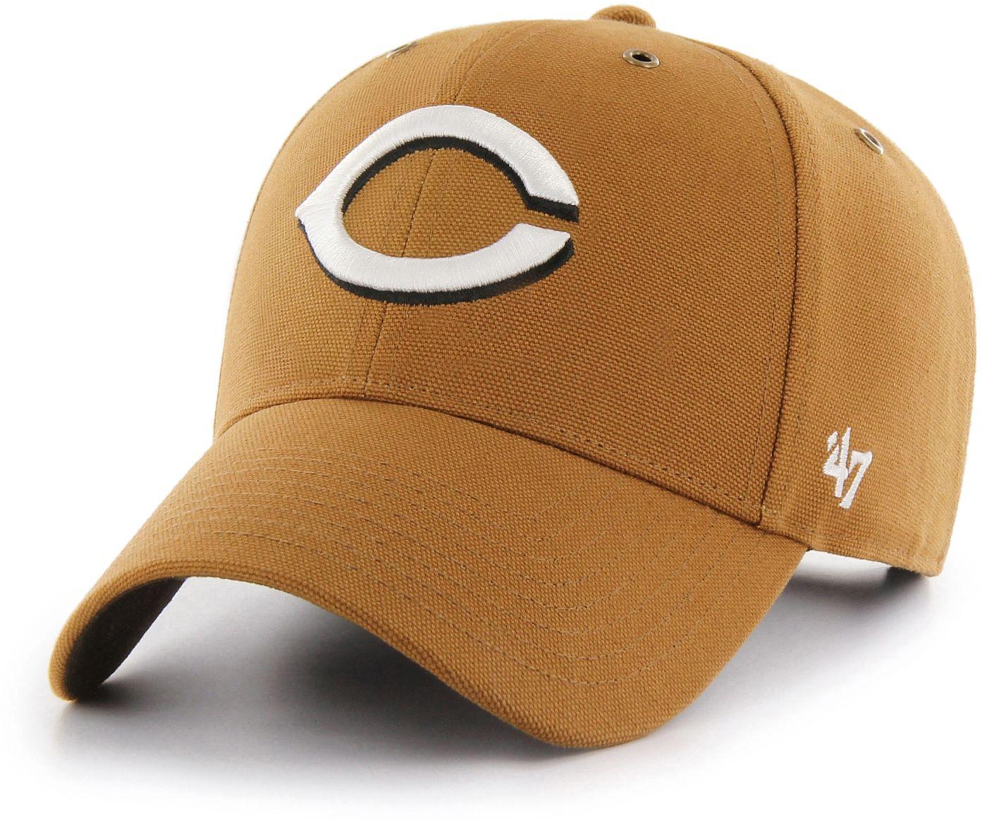'47 Men's Cincinnati Reds Carhartt MVP Brown Adjustable Hat
