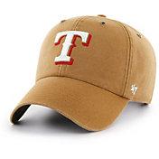 '47 Men's Texas Rangers Carhartt Clean Up Brown Adjustable Hat
