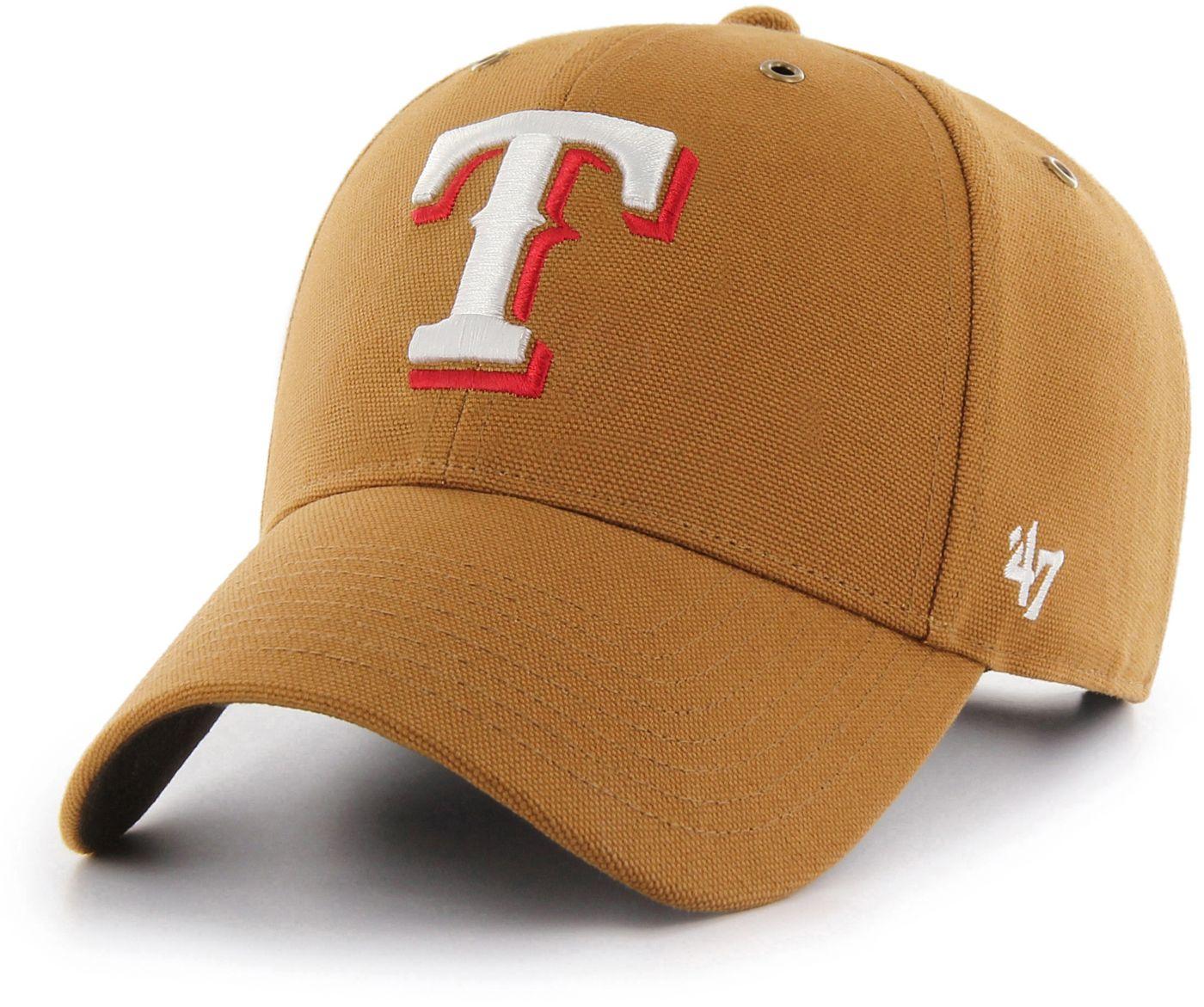 '47 Men's Texas Rangers Carhartt MVP Brown Adjustable Hat