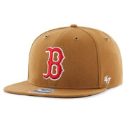 '47 Men's Boston Red Sox Carhartt Captain Brown Adjustable Snapback Hat