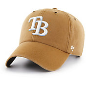 '47 Men's Tampa Bay Rays Carhartt Clean Up Brown Adjustable Hat
