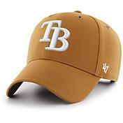 '47 Men's Tampa Bay Rays Carhartt MVP Brown Adjustable Hat