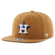 '47 Men's Houston Astros Carhartt Captain Brown Adjustable Snapback Hat