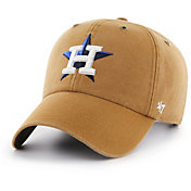 '47 Men's Houston Astros Carhartt Clean Up Brown Adjustable Hat