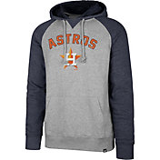 '47 Men's Houston Astros Raglan Pullover Hoodie