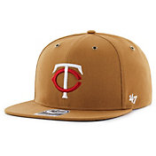 '47 Men's Minnesota Twins Carhartt Captain Brown Adjustable Snapback Hat