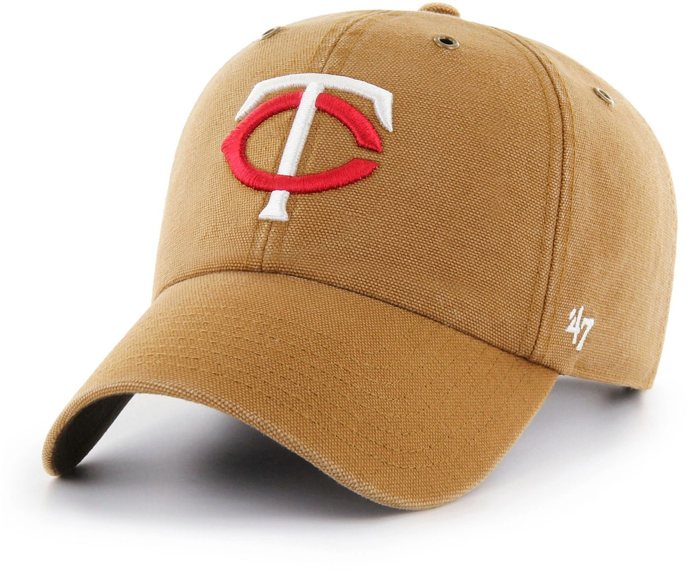 '47 Men's Minnesota Twins Carhartt Clean Up Brown Adjustable Hat