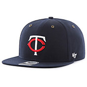 '47 Men's Minnesota Twins Carhartt Captain Navy Adjustable Snapback Hat