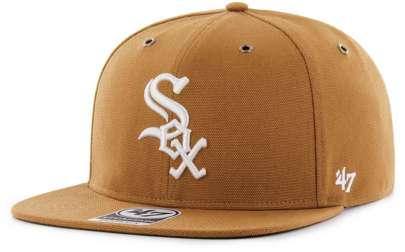 '47 Men's Chicago White Sox Carhartt Captain Brown Adjustable Snapback Hat