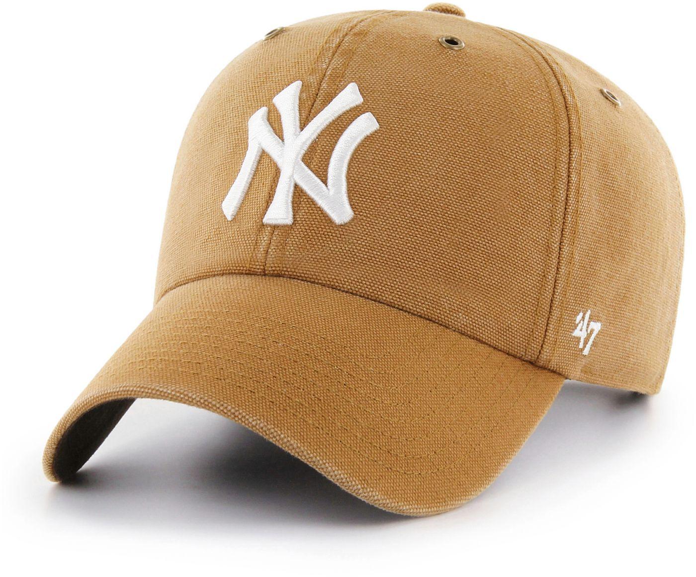 '47 Men's New York Yankees Carhartt Clean Up Brown Adjustable Hat