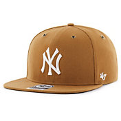 '47 Men's New York Yankees Carhartt Captain Brown Adjustable Snapback Hat