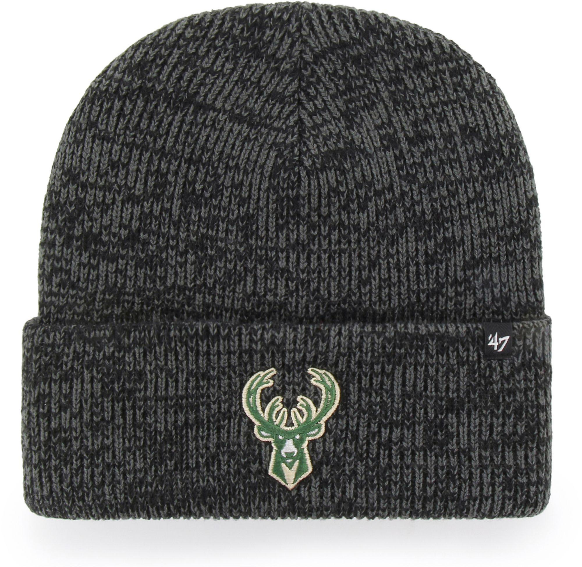 '47 Men's Milwaukee Bucks Brain Freeze Knit Beanie, Size: One size, Black thumbnail