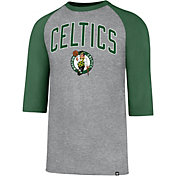 '47 Men's Boston Celtics Raglan Three-Quarter Sleeve Shirt