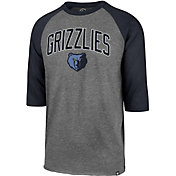 '47 Men's Memphis Grizzlies Raglan Three-Quarter Sleeve Shirt