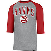 '47 Men's Atlanta Hawks Raglan Three-Quarter Sleeve Shirt