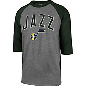 '47 Men's Utah Jazz Raglan Three-Quarter Sleeve Shirt