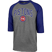 '47 Men's Detroit Pistons Raglan Three-Quarter Sleeve Shirt