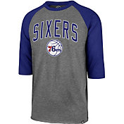 '47 Men's Philadelphia 76ers Raglan Three-Quarter Sleeve Shirt