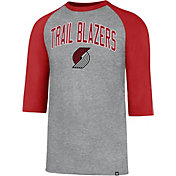 '47 Men's Portland Trail Blazers Raglan Three-Quarter Sleeve Shirt