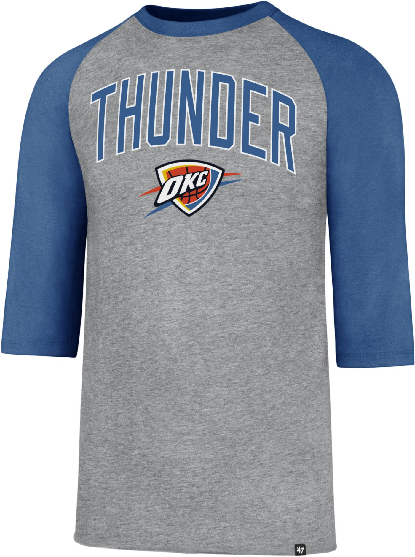 '47 Men's Oklahoma City Thunder Raglan Three-Quarter Sleeve Shirt