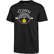 '47 Men's Golden State Warriors Town Logo Black T-Shirt